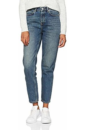 Selected Femme Women's Slffrida Hw Mom Mid Noos W Straight Jeans