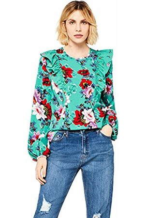 FIND Women's Floral Ruffle Top