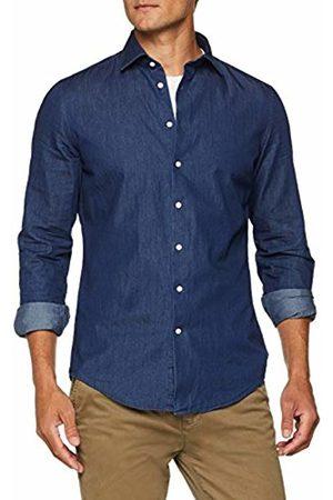 Seidensticker Men's Slim Langarm Mit Kent Kragen Soft Smart Business Denim Shirt