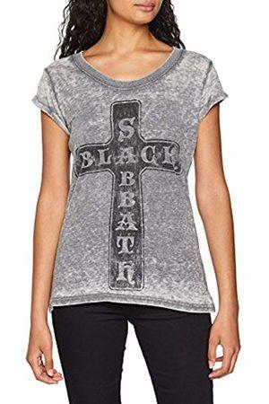 Rockoff Trade Women's Black Sabbath Vintage Cross (Burn Out) T-Shirt