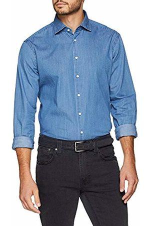 Seidensticker Men's Modern Langarm Mit Kent Soft Uni Optik Smart Business-Weicher Kragen Denim Shirt