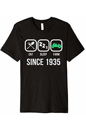Funky Blinky Farm Shirt Eat Sleep Farm Since 1935 T-Shirt Farmer Birthday Gift Shirt