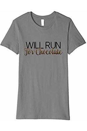 CuteComfy Womens Will Run for Chocolate Funny Women's Running T-Shirt