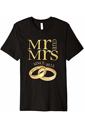 Blink 3rd Wedding Anniversary T-Shirt Mr & Mrs Since 2015 Gift Tee