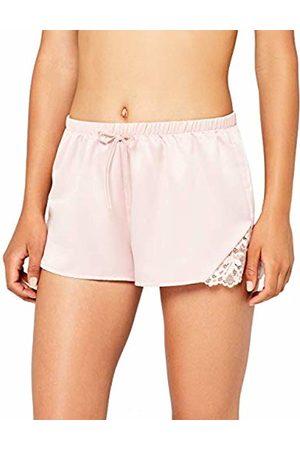 IRIS & LILLY Women's Lace Detail Short Pyjama Bottoms