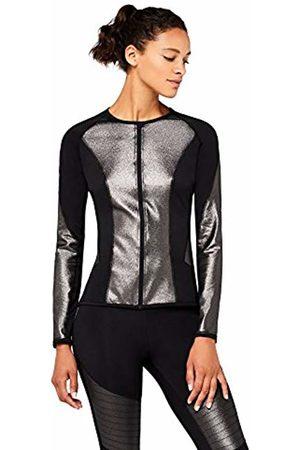 AURIQUE Women's High Shine Crew Neck Sports Jacket