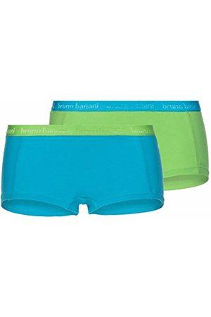 Bruno Banani Women's Panties 2er Pack Flooding Boy Shorts, (Türkis/Apfelgrün //Apfelgrün/Türkis 2600)