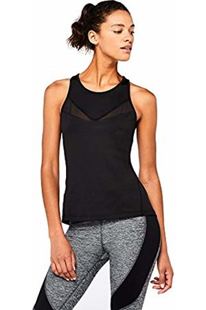 AURIQUE Women's High Neck Mesh Panel Sports Vest