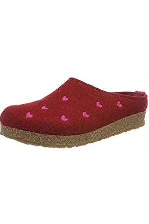Haflinger Women''s Couriccini Grizzly Open Back Slippers, (Paprika 42)