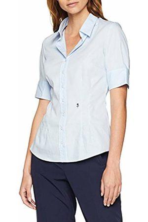 Seidensticker Women's Hemdbluse Kurzarm Slim Fit Uni Bügelfrei Blouse