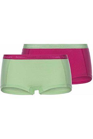 Bruno Banani Women's Panties 2er Pack Flooding Boy Shorts, (Fuchsia/Hellgrün // Hellgrün/Fuchsia 2598)