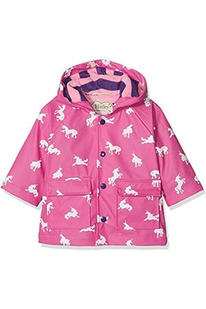 Hatley Baby Girls' Printed Raincoat, (Colour Changing Unicorn Silhouettes)