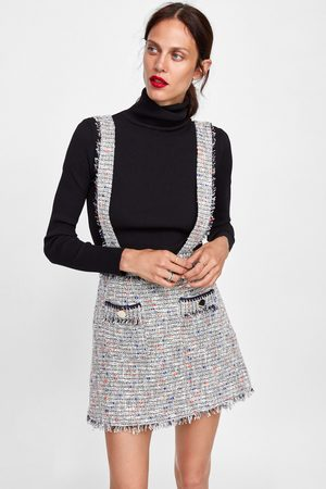 935c7fa4c70 Zara TWEED MINI SKIRT WITH BRACES