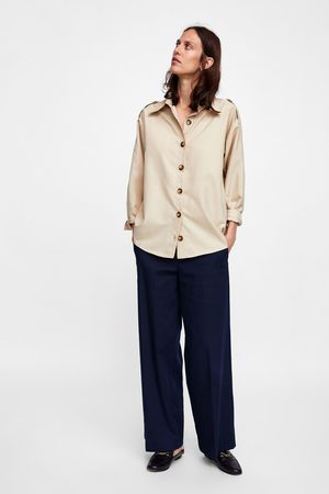 Zara OVERSHIRT WITH CONTRASTING BUTTONS