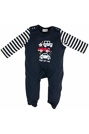 Salt & Pepper Salt and Pepper Baby Boys' NB Playsuit Bear Uni Auto Footies