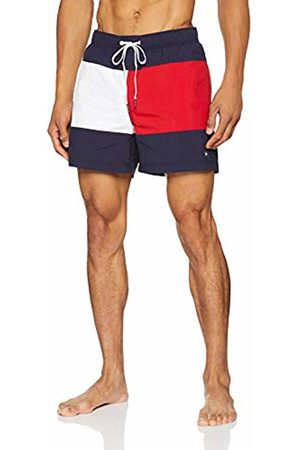 Tommy Hilfiger Men's Medium Drawstring Swim Trunks, (Navy Blazer-Tango 092)