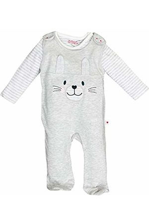 Salt & Pepper Salt and Pepper Baby Girls' NB Playsuit Schatz Uni Hase Footies