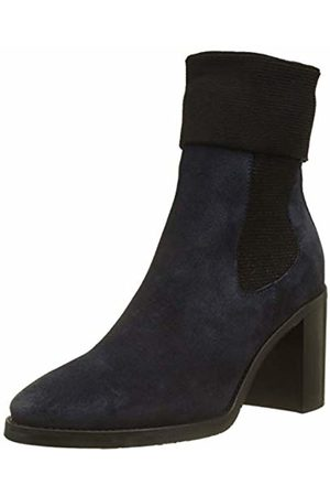 Tommy Hilfiger Women's Knitted Sock Heeled Suede Slouch Boots