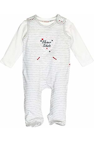 Salt & Pepper Salt and Pepper Baby Girls' NB Playsuit Schatz Stripe Footies