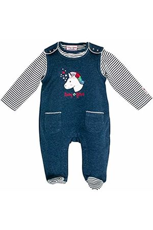 Salt & Pepper Salt and Pepper Baby Girls' BG Playsuit Uni Einhorn Ocs Footies