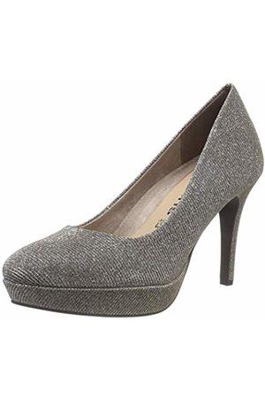 8821368be0d593 Tamaris Women s 22414-21 Closed-Toe Pumps (Platinum Glam 970) 6.5 UK