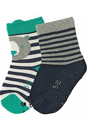 Sterntaler Baby Boys' Abs-Söckchen DP Bär/Ringel Socks