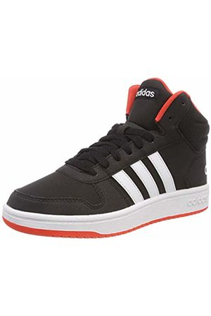 adidas Unisex Kids' Hoops Mid 2.0 K Basketball Shoes, Core /FTWR /Hi/Res S18
