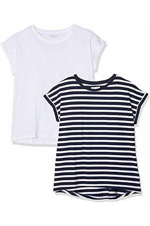 Simply Be Women's Pack 2 Boyfriend T-Shirt, ( /Navy Stripe)