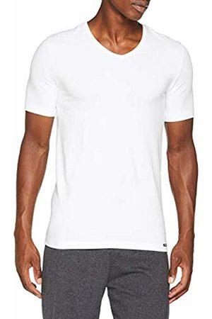 Skiny Men's Essentials V-Neck 1/2 Sleeve T-Shirt - - Weiß (0500 ) - 48 (Brand size: M)