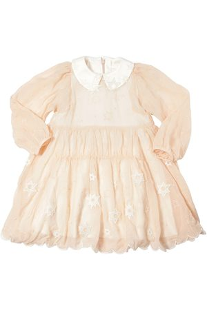 Chloé Girls Dresses - EMBROIDERED SILK GEORGETTE DRESS