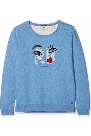 Scotch&Soda R´Belle Girl's Crew Neck Sweat in NEP Yarn Quality with Chest Artwork Sweatshirt