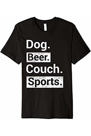 My Shirt Hub Dog Beer Couch Sports Funny Dad & Mom T-Shirt