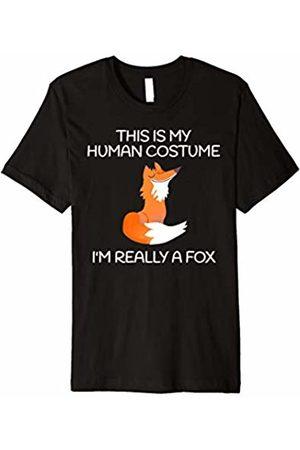 Fox Human Costume T-Shirt This Is My Human Costume I'm Really A Fox Shirt