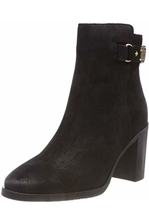 Tommy Hilfiger Women's Th Buckle Heeled Suede Ankle Boots