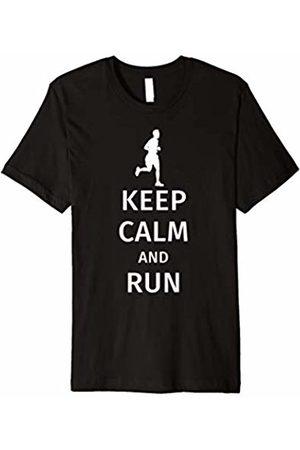 Marathon Runner T-Shirt Keep Calm and Run / Funny Runner T-Shirt Gift