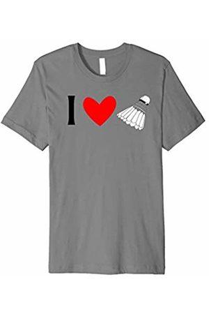 Buy Cool Shirts I Love Badminton T-shirt