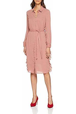 Lost Ink Women's Ruffle Shirt Column Dress