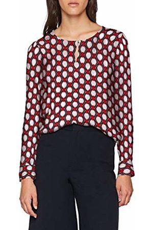 Seidensticker Women's Shirtbluse Comfort Fit Ohne Kragen Langarm Rundhals Print Blouse