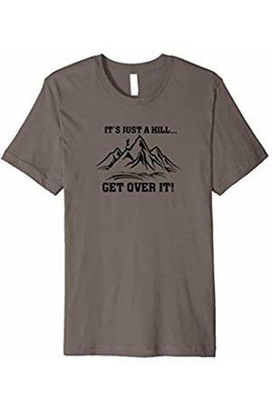 TeeCreations Running CC It's Just a Hill Cross Country Runner T-shirt