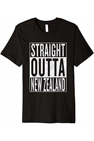 Straight Outta New Zealand cool bday party tees Straight Outta New Zealand Great Travel & Gift Idea T-Shirt