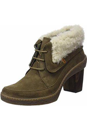 El Naturalista Women s N5172 Lux Suede-Doble Faz Kaki Lichen Ankle Boots 9068a09e545