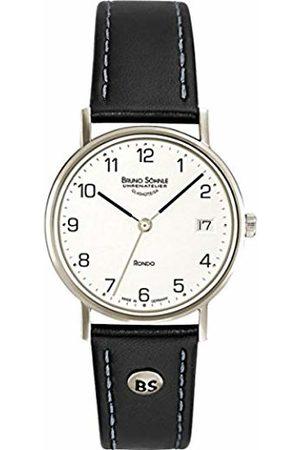 Soehnle Bruno Söhnle Women's Quartz Watch with Silver Leather Rondo Analogue Quartz 17 HEKO-13106-REAR Rear 221