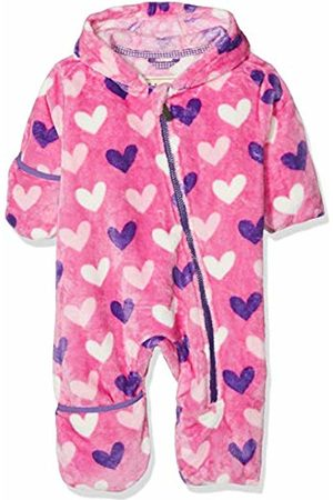 Hatley Baby Girls' Fuzzy Fleece Bundlers Jacket, (Multi Hearts)