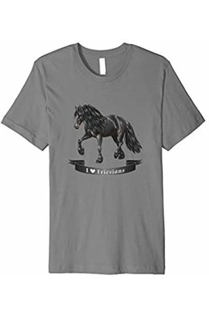Horse Lover Shirts by CSForest I Love (Heart) Friesian Horses T-shirt