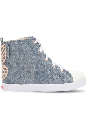 SOPHIA WEBSTER Bibi Embroidered High Top Sneakers