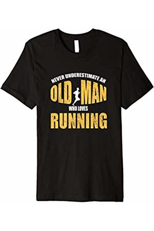 Cool T Shirts Shop Never Underestimate An Old Man Who Loves Running T-Shirt