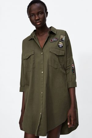Zara Z1975 OVERSHIRT WITH PATCHES