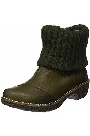 El Naturalista Women's N097 Soft Grain Olive/Yggdrasil Ankle Boots