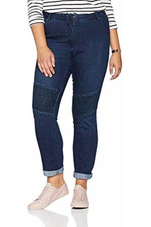 Ulla Popken Women's Jeanshose Mit Biesen, Sammy Slim Jeans