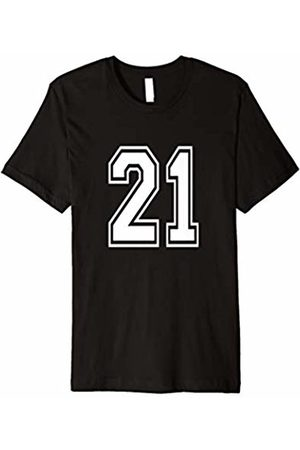 Uniform Numbered Tee Shirts Number 21 T Shirt Age Sports Player Jersey Number